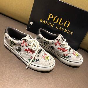 Polo Ralph Lauren Grey Thornton boy shoes size 1